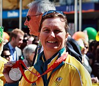 2008 Australian Olympic team Sonja Johnson - Sarah Ewart.jpg