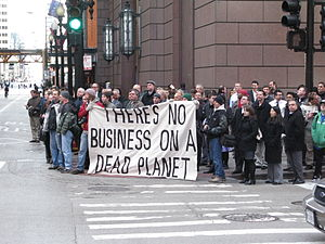 image of 2009-11-30 - Chicago Climate Justice activists in Chicago - Cap'n'Trade protest 003