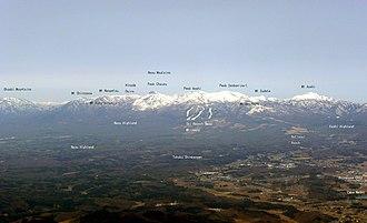Mount Nasu - Image: 20090321Mt Nasu Tagged