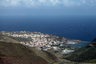 Foto Blick auf die Hauptstadt San Sebastián de La Gomera