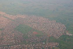 Aerial view of Vosloorus