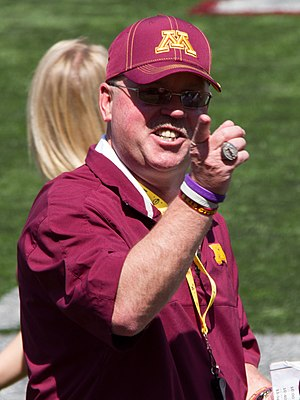 Jerry Kill - Kill at the 2013 Minnesota Spring Game