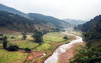 Nan River - The Nan River in Chaloem Phra Kiat District, Nan, very near to its source in Bo Kluea District
