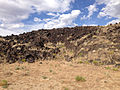 2014-07-18 17 02 25 Close view of the west edge of the Black Rock Lava Flow, Nevada.JPG