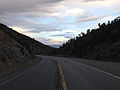 2014-07-18 19 33 47 View east along U.S. Route 6 about 35.0 miles east of the Nye County Line in White Pine County, Nevada.JPG