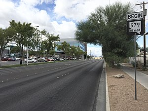 Nevada State Route 579 - View at the east end of SR 579 looking westbound