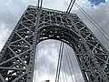 2015 George Washington Bridge west tower from below looking west.jpg