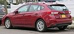 2017 Subaru Impreza hatchback rear 3.28.18.jpg