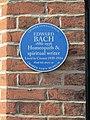 2018-04-01 Edward Bach, Blue plaque, The Gangway, Cromer.JPG