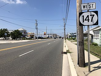 North Wildwood, New Jersey - Route 147 westbound in North Wildwood