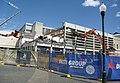 2018-10-09 Fremantle civic centre demolition, beams visible.jpg