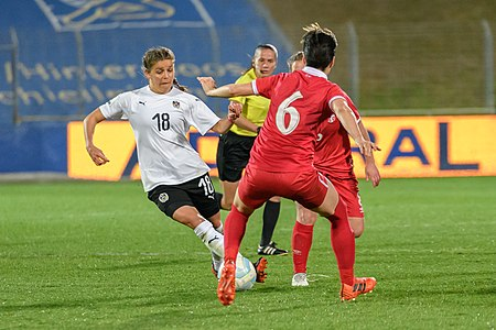 20180405 FIFA Women's World Cup Qualification AUT-SRB Laura Feiersinger 850 6757.jpg