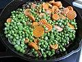 2020-04-12 19 15 28 Peas and sliced carrots on a hot pan in the Franklin Farm section of Oak Hill, Fairfax County, Virginia.jpg