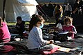 2020 Aegean Sea earthquake - people staying in the tent after the earthquake 2.jpg