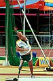 231000 - Athletics field pentathlon Wayne Bell shot put action - 3b - 2000 Sydney event photo.jpg