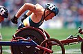 301000 - Athletics wheelchair racing Kurt Fearnley action 3 - 3b - 2000 Sydney race photo.jpg