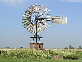 De windmotor van Stroobos in 2007