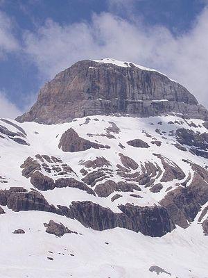 Cilindro de Marboré - northern side of the Pico Cilindro in Winter