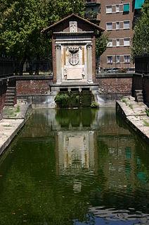 Conca del Naviglio Quartiere of Milan in Lombardy, Italy