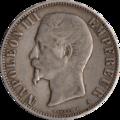 5 Francs Napoléon III 1856 avers.png