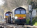 66413 and 66 number 131 Hither Green P.A.D. to Hoo Junction up yard (12985752605).jpg