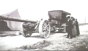 BL 6-inch Gun Mk XIX - BL 6 inch gun Mk XIX, France 1918