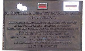 23rd Brigade (Australia) - memorial plaque for the 23rd Brigade in Bicentennial Park, Darwin