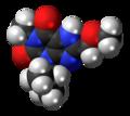 8-Methoxymethyl-3-isobutyl-1-methylxanthine molecule spacefill.png