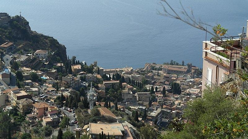 Foto panoramica di Castelmola
