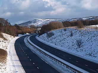 A174 road - A174 Parkway in the snow
