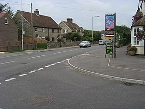 Winterbourne Abbas - Image: A35 Winterbourne Abbas geograph.org.uk 1555639