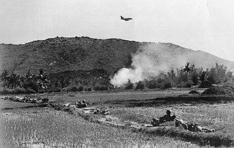 Operation Desoto - An A-4 Skyhawk making a bombing run on a Viet Cong position