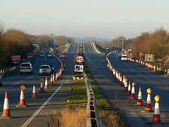 A419 road - Image: A419 looking north towards Common Head, Swindon geograph.org.uk 432399