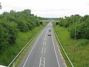 A49 road - Weaverham Diversion