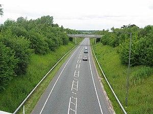 A49 road - Weaverham Diversion