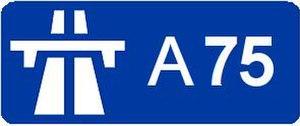 A75 autoroute - Image: A75 roadsign