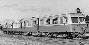 WAGR ADE/ADT class - ADE 451 and ADT 7 at Midland in 1939