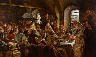 Wedding reception - Wedding reception in 17th-century Russia by Konstantin Makovsky