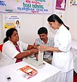 A Health Camp being organised as a part of the Bharat Nirman Public Information Campaign, at Challakere in Chitradurga district, Karnataka on December 27, 2011.jpg