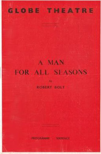 A Man for All Seasons - Programme from the original London production (1960)
