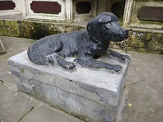 Statue of a Dog, Kasauli, India