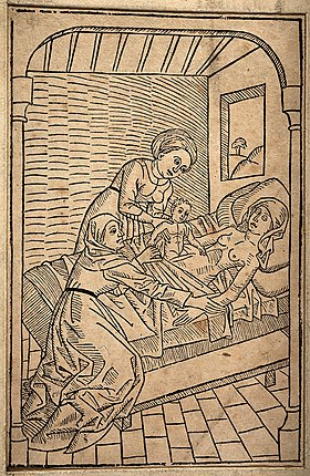 A baby being removed from its dying mother's womb via Caesar Wellcome V0014915.jpg