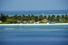 A beach side resort at Kadmat Island, Lakshadweep.jpg