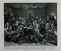A dishevelled Tom Rakewell in the gambling house, the obsess Wellcome V0049291.jpg