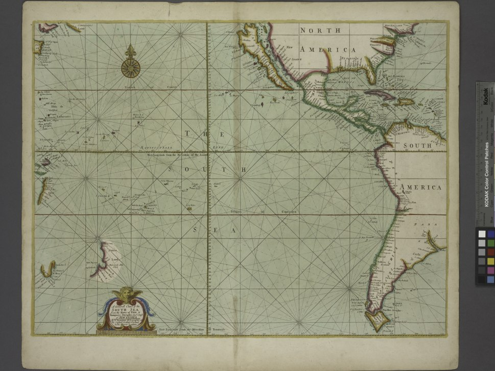 A generall chart of the South Sea ... NYPL481132.tiff