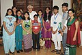 A group of ten children selected by the National Bal Bhavan (NBB) for the proposed visit to Mongolia meeting the Union Minister for Human Resource Development and Communications and Information Technology, Shri Kapil Sibal.jpg