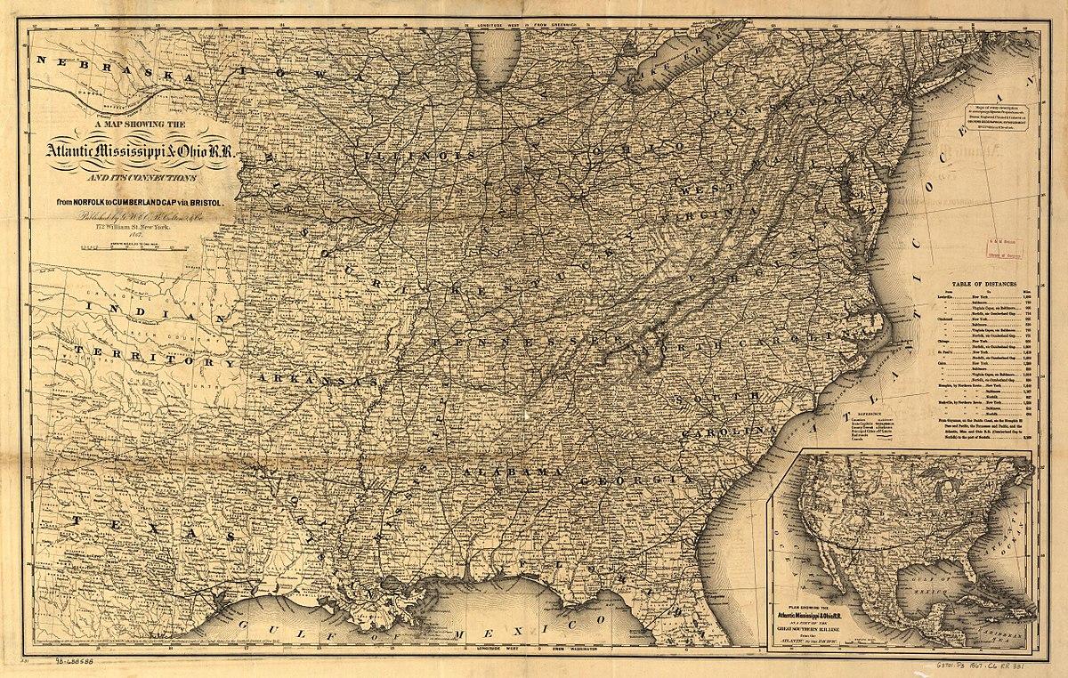 Atlantic Mississippi And Ohio Railroad Wikipedia