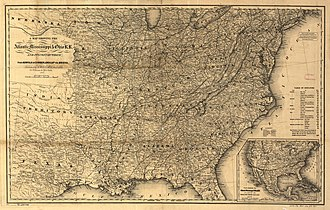Atlantic, Mississippi and Ohio Railroad - Image: A map showing the Atlantic Mississippi & Ohio R.R. and its connections from Norfolk to Cumberland Gap via Bristol