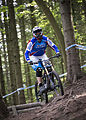 A member of the RAF Regiment taking part in the RAF Downhill Championships MOD 45158943.jpg