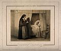 A nun brings some refreshment to a feverish patient, with a Wellcome V0015232.jpg